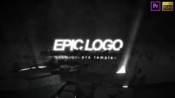 爆破打破动态LOGO发光商标开场粉碎标志标题LOGO-Premiere Pro下载