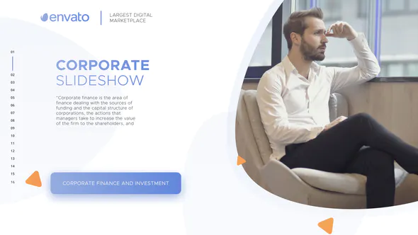 AE模版企业幻灯片放映作品集corporate slideshow