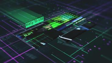 AE幻灯片模板科幻元素幻灯片信息图表Sci-Fi Elements Slideshow