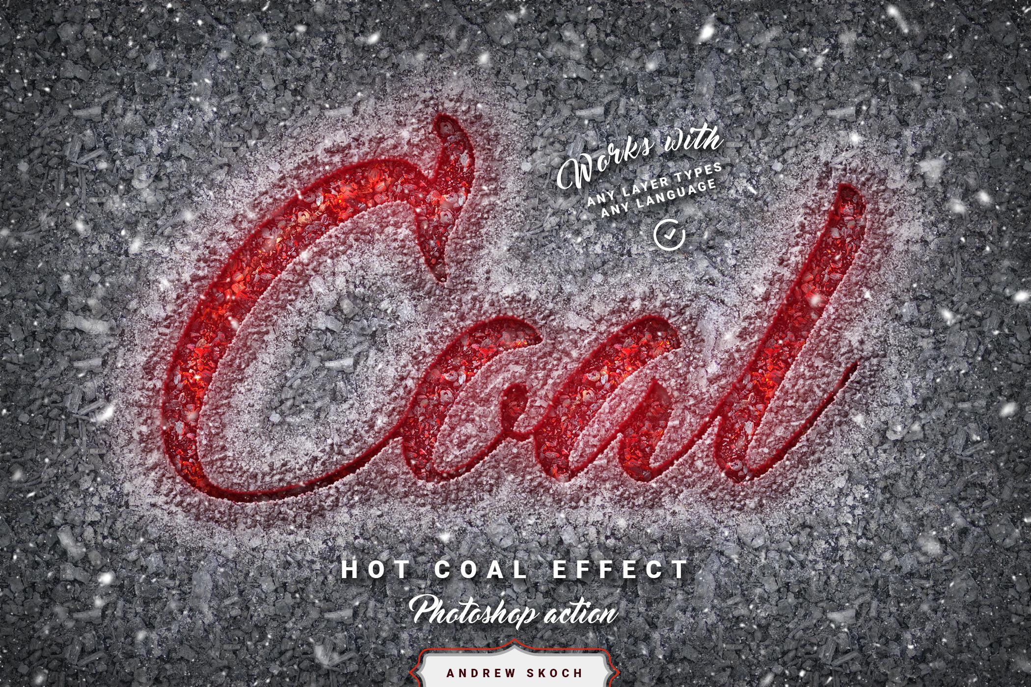 热煤-Photoshop动作灼热PS笔刷酷热纹理插图