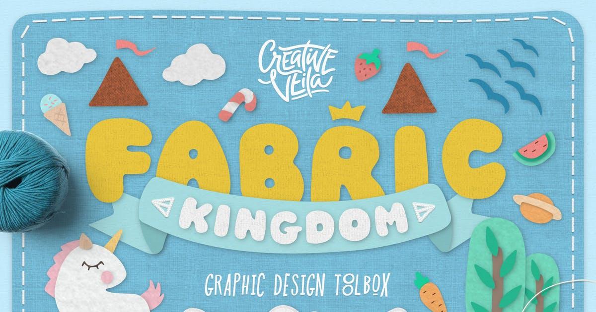 卡通面料王国Photoshop样式Fabric Kingdom Photoshop Edition插图