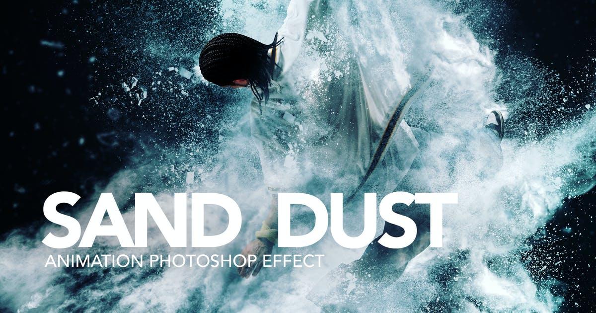 沙尘/粉末爆炸Photoshop动作Sand Dust / Powder Explosion Photoshop Action插图