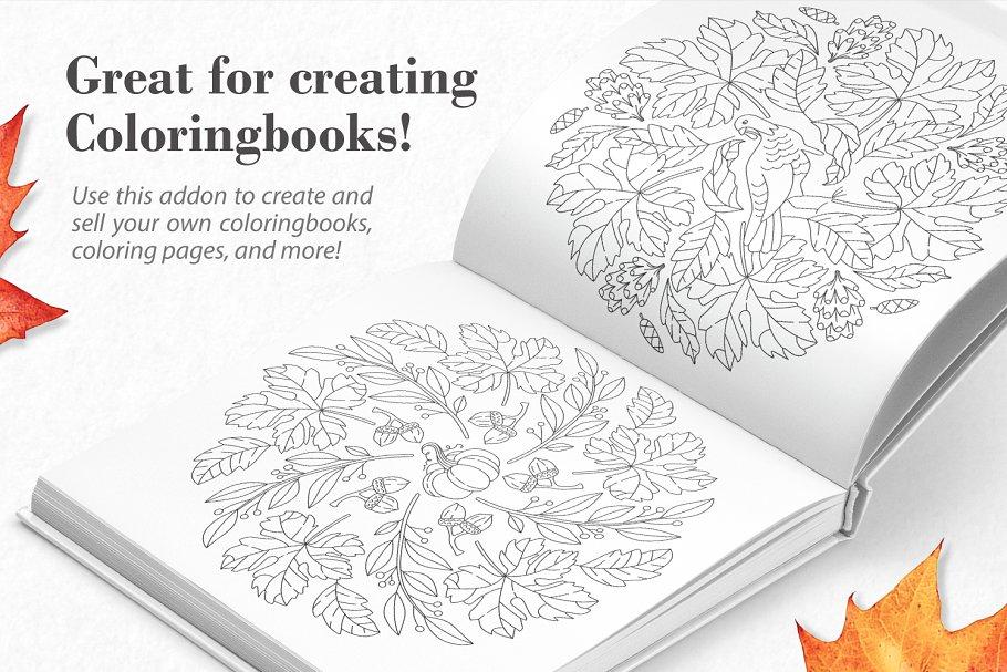 秋季图案生成illustrator插件 Autumn Harvest Mandala Creator插图2