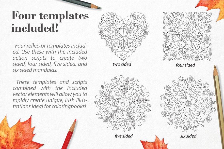 秋季图案生成illustrator插件 Autumn Harvest Mandala Creator插图3