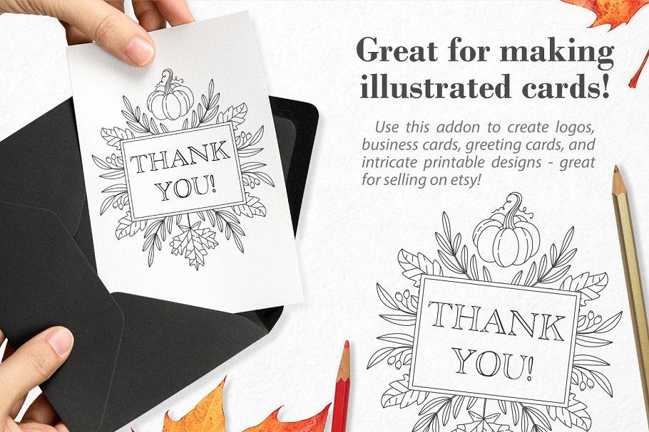秋季图案生成illustrator插件 Autumn Harvest Mandala Creator插图5