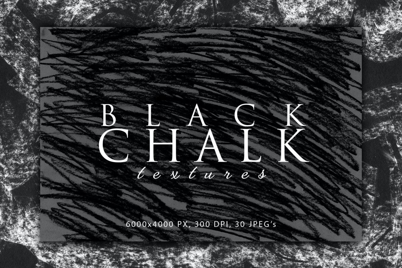 粉笔笔画做旧风格肌理纹理素材v2 Black Chalk Textures 2插图